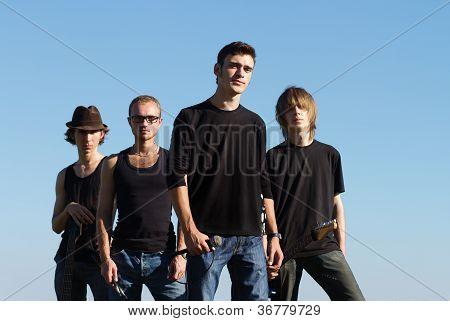 Young Rockstars Posing