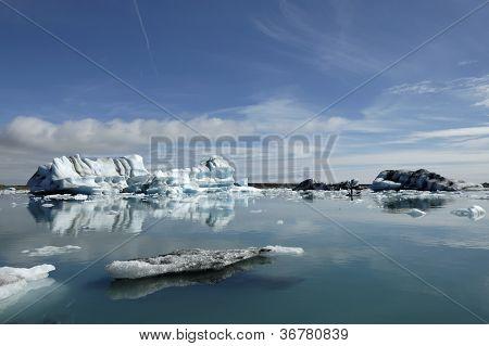 Icebergs In Jokulsarlon Ice Lagoon.