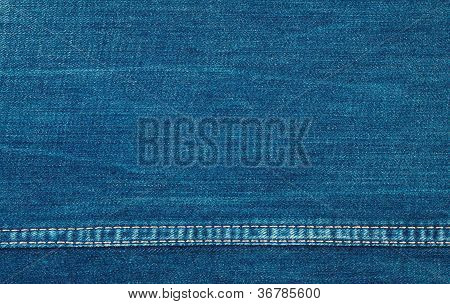 Background Of Blue Coarse Denim