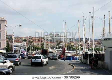 Street And Port, Located  In Cannes, French