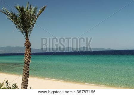 View on beach in Greece