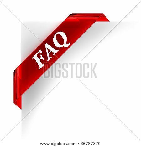 Faq Red Banner