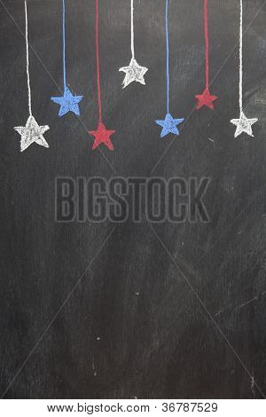 Chalkboard Hanging Stars