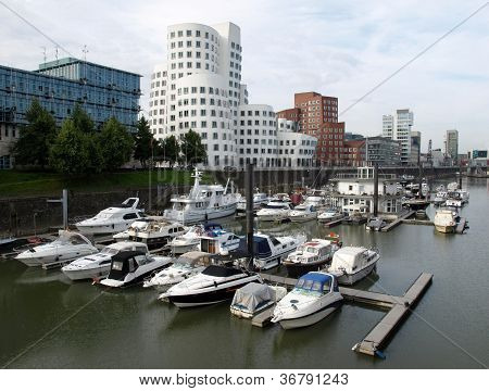 Duesseldorf harbour Germany