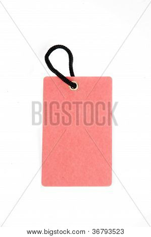 Vertical Red Paper Tag