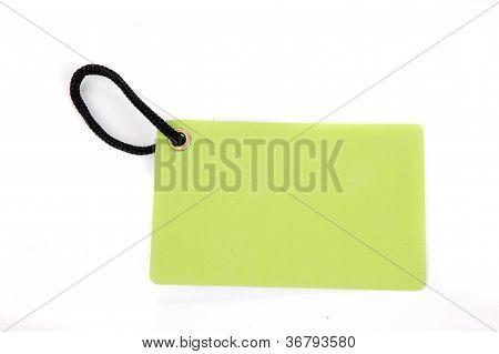 Horizontal Green Paper Tag
