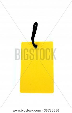 Blank Yellow Paper Tag