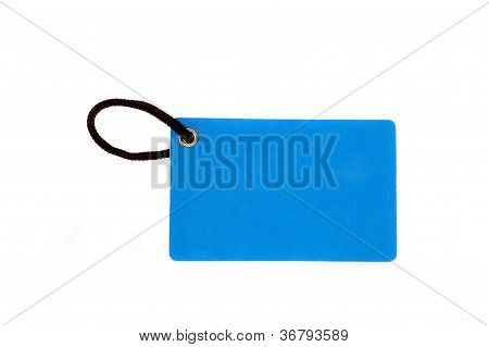 Blank Blue Paper Tag
