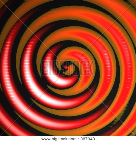 Orange Red Swirl