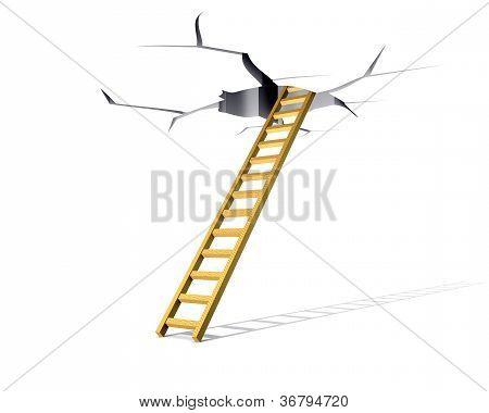 Ladder In A Crack