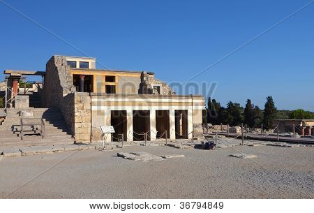 Ancient Knossos at Crete in Greece