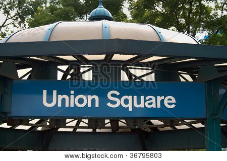 Union Square Subway Stop, New York