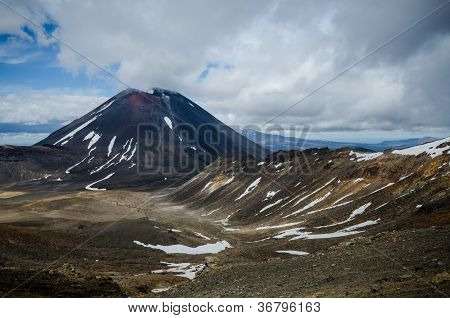Mount Ngauruhoe And Mount Tongariro, Tongariro National Park, New Zealand