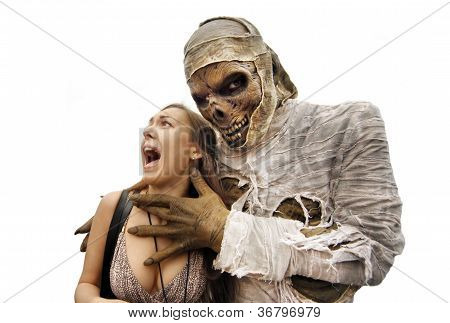 Mummies And Young Woman