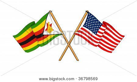 America And Zimbabwe Alliance And Friendship