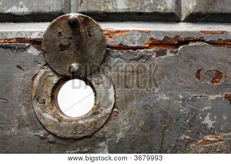 Hole In Jail Door