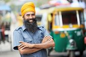 foto of rickshaw  - Indian auto rickshaw three - JPG
