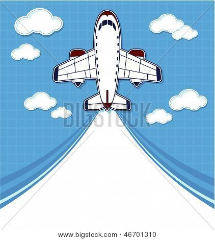 funny commercial airplane cartoon
