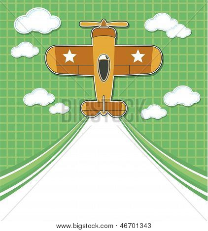 airplane toy cartoon background
