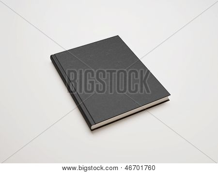book with blank black cover