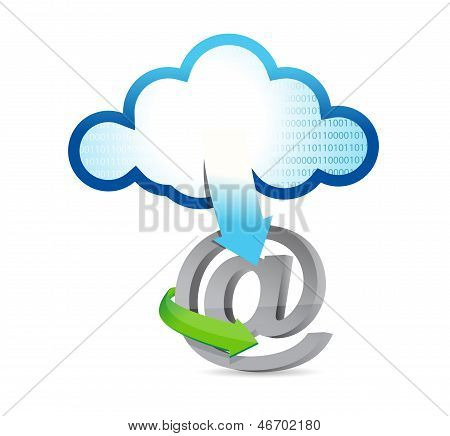 Cloud Computing At Sign Illustration
