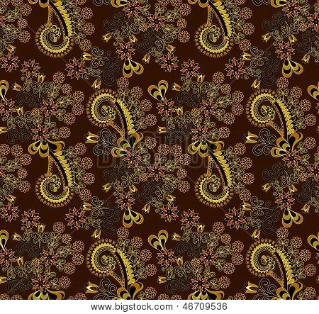 paisley pattern decorated with flowers