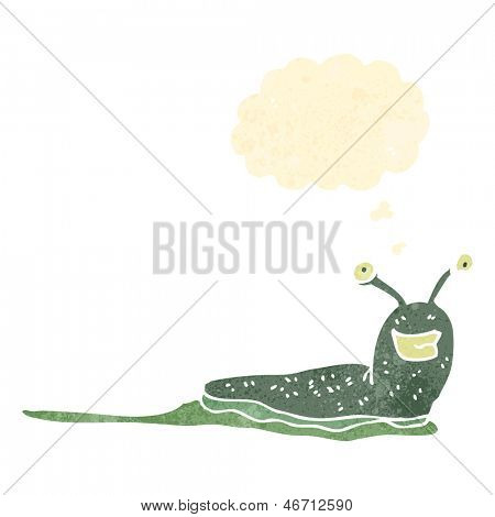 retro cartoon happy slug