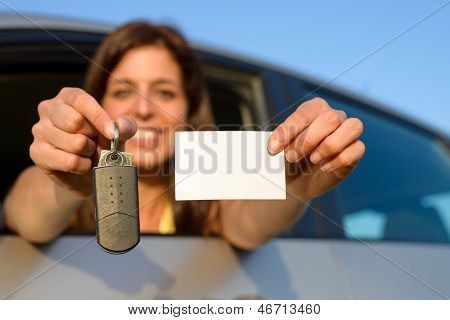 Driving License And Car Keys