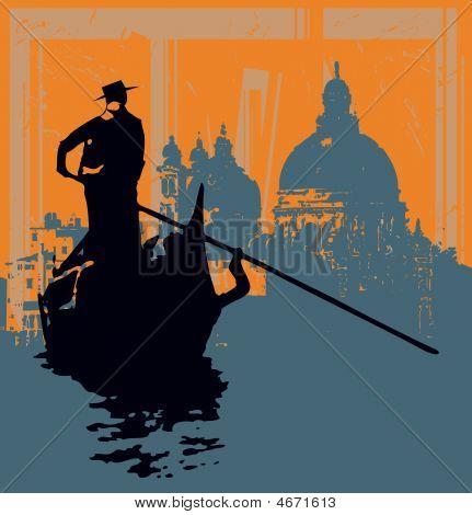 Gondola Grunge Background