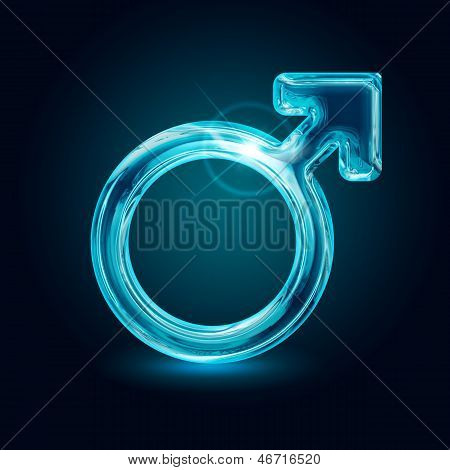 shining symbol of the male gender