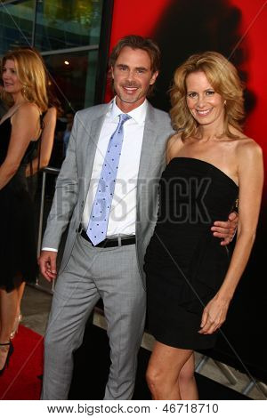 LOS ANGELES - JUN 11:  Sam Trammell and Missy Yager arrive at the