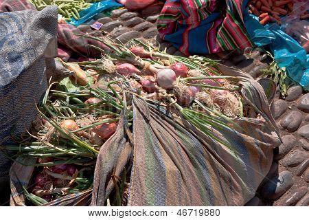 Día de mercado en Pisac, Perú