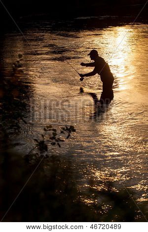 fisherman on the rive