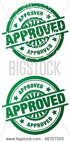 Approved Rubber Stamp - Clean And Grunge Style