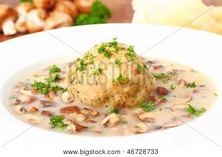 Dumpling With Mushrooms