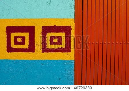 Colorful wall and gate