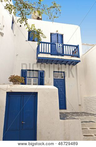 House at Mykonos island in Greece