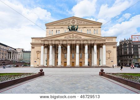 Edifício do Teatro Bolshoi em Moscou, Rússia