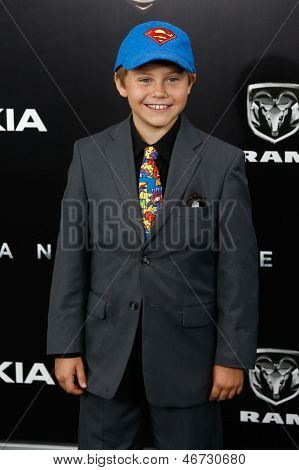 NEW YORK-JUNE 10: Actor Cooper Timberline attends the world premiere of