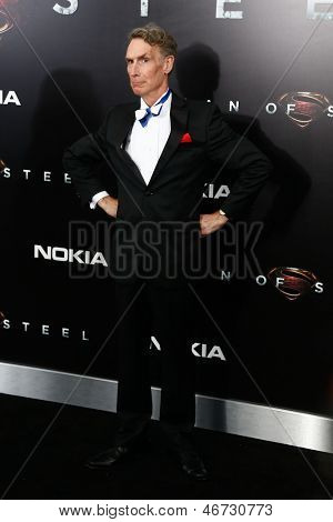 NEW YORK-JUNE 10: Producer Bill Nye attends the world premiere of