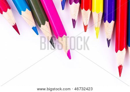 Colour pencils isolated
