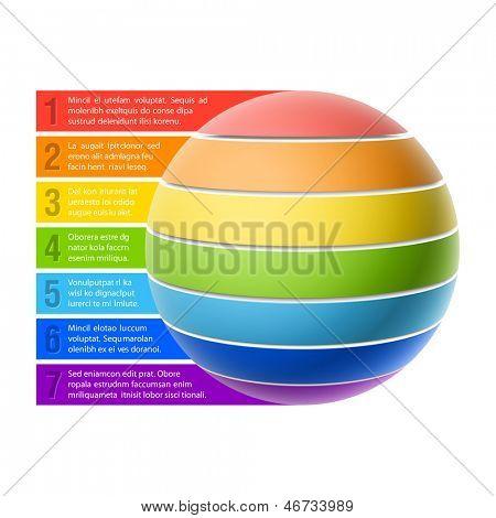 Gráfico de la esfera. Vector.