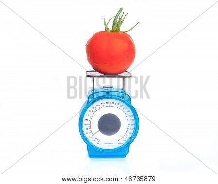 Tomato On Scale