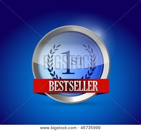Bestseller Button Shield Illustration Design