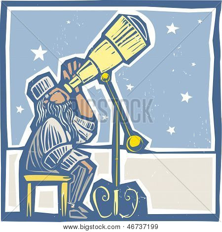 Astronomer At Night