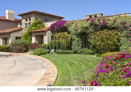 Colorful Residence In Point Loma California.