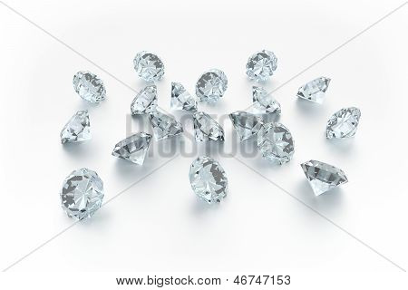 3D Diamonds - 18 Gems