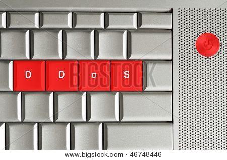 Ddos Spelled On Keyboard