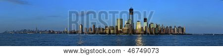 Sonnenuntergang von Manhattan aus New Jersey