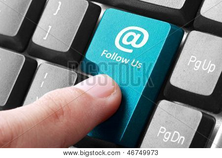 Follow Us Button On The Keyboard